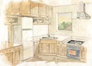 初めてのキッチンの直接受注